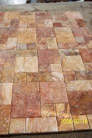Peach Travertine Pavers Roman Pattern Gothicstone Pinterest