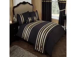 glitz black u0026 gold trim ribbon 200tc egyptian cotton duvet