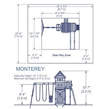 monterey wooden swing set playsets backyard discovery