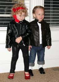 Sandy Danny Grease Halloween Costumes Greaser 1950 U0027s Leather Jacket Costume Size Grease