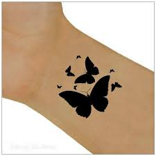butterfly temporary tattoos black butterfly wrist tattoos you