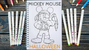 mickey mouse halloween coloring pages mickey mouse dia das