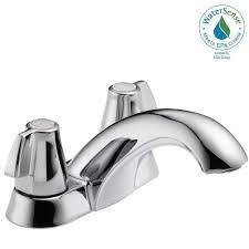 delta tolva 4 in centerset 2 handle bathroom faucet in chrome