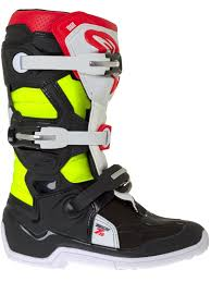 motocross boots australia alpinestars black red fluorescent tech 7s kids mx boot