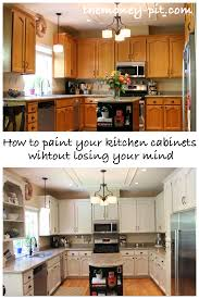 How To Refinish Kitchen Cabinets With Paint How To Paint Your Kitchen Cabinets Without Losing Your Mind The