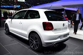 gti volkswagen 2014 2015 vw polo gti rear three quarter at the 2014 paris motor show