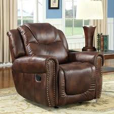 Glider Rocker Recliner With Ottoman Black Leatherette Leather - Swivel rocker chairs for living room