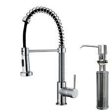 Kitchen Faucet With Spray by Vigo Edison Single Handle Pull Down Spray Kitchen Faucet With Soap