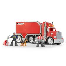 amazon com gear force horsepower freightliner semi playset toys