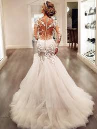 wedding dresses sleeves charming appliques backless mermaid wedding dress with
