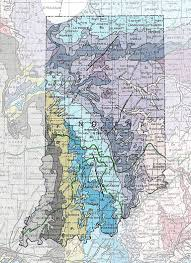 Map Of Nevada And Surrounding States Geologic Maps Of The 50 United States
