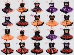 online cheap new children halloween tutu dress vest skirt pumpkin