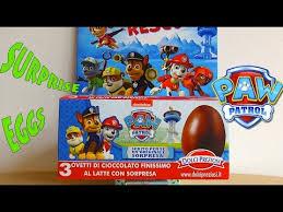 paw patrol chocolate surprise eggs la patrulla canina パウ