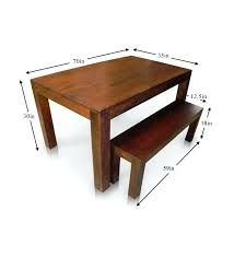 wood dining table with bench u2013 amarillobrewing co