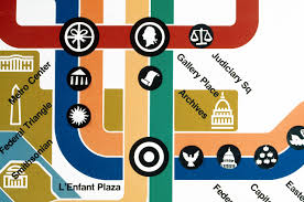 Washington Subway Map by Lance Wyman