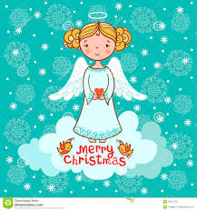 greeting card christmas card with angel royalty free stock photo