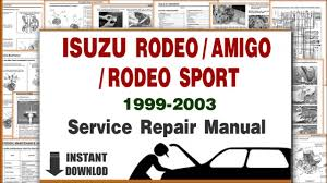 isuzu trooper 3 2 1999 auto images and specification