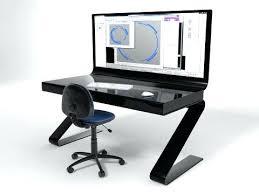 petit bureau noir bureau ordinateur noir josytal info