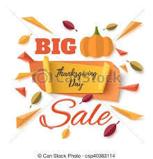 big thanksgiving day sale abstract banner big thanksgiving
