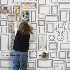 Peal And Stick Wall Paper Frames Peel And Stick Fabric Wallpaper Repositionable 2ft X 4ft