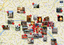 Map Of Paris France Literary Map Of Paris New Zone