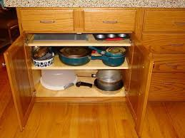 wooden mobile kitchen design with drawer and frying pan mobile