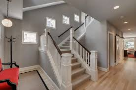 Staircase Decorating Ideas Wall with Hallway With Grey Walls And Stair Decorating Ideas For Grey
