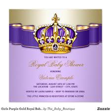 baby shower invitations at party city girls purple gold royal baby shower invitation baby shower
