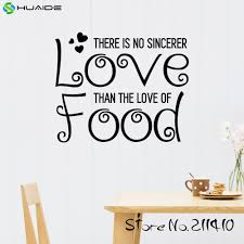 popular wall art tiles buy cheap lots from china sincerer love than food wall decal sticker black cutting words stickers for kitchen room