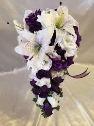 wedding flowers ebay 34 best purple wedding flowers images on bridal