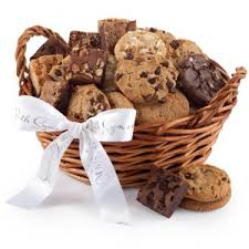 cookie gift basket mrs fields sympathy cookie brownie baskets
