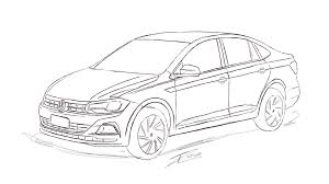 volkswagen drawing volkswagen u0027s upcoming polo sedan could look like this