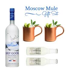 grey goose gift set buy moscow mule gift set with 2 copper mugs grey goose vodka online