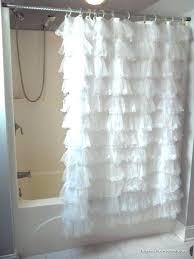 Shower Curtains White Fabric Feminine Shower Curtain 3 Pink Zebra Bathroom Rugs With