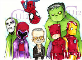 chris uminga stan lee with daredevil hulk magneto dr doom