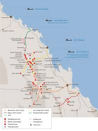 map of queensland aurizon detailed map queensland competition authority