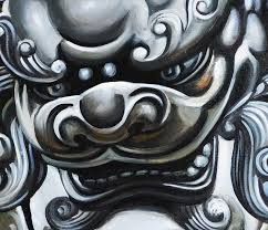 pictures of foo dogs dog painting foo dogs painting feng shui artwork painting