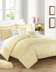 chic home design ritchelle yellow shibori geo print comforter set