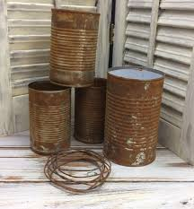 halloween tin cans how to rust tin cans for other craft projects rusty tincans
