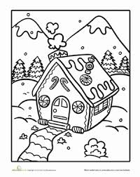 the gingerbread man coloring pages color the gingerbread house worksheet education com