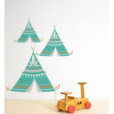 tribal teepee teal wall decal temple u0026 webster