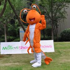 lobster halloween costumes fancytrader orange shrimp mascot costume fancy dress lobster