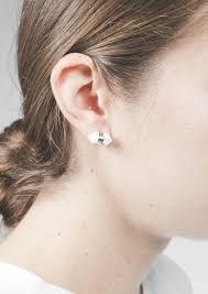 pretty earrings pretty marble stud earrings happiness boutique