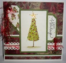 artful evidence card watercolour christmas tree