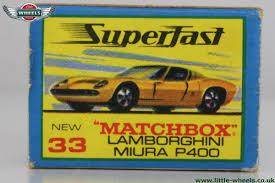 matchbox lamborghini miura 33c