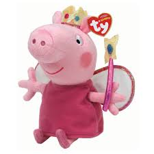 ty peppa pig princess beanie 7 00 hamleys for ty peppa pig
