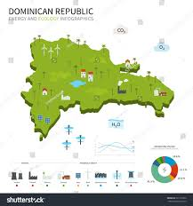 Map Dominican Republic Energy Industry Ecology Dominican Republic Map Stock Illustration
