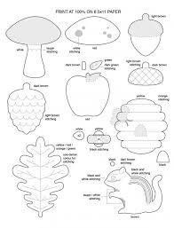 free template for felt woodland creatures pattern chipmunk oak