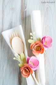 paper flower diy napkin ring tutorial
