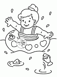 summertime fun for kids coloring page for kids seasons coloring
